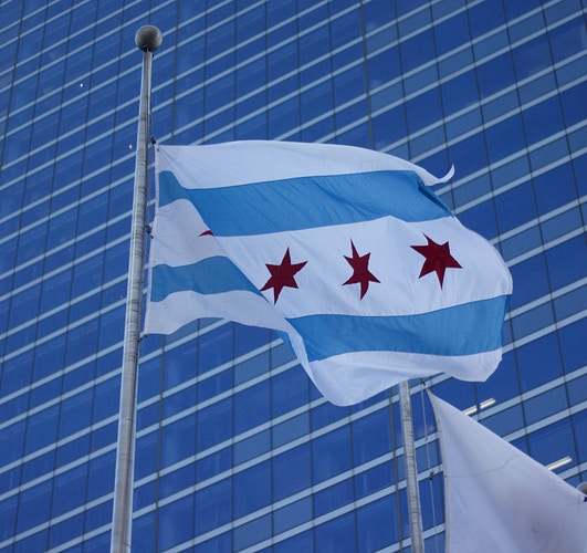 Flag Of Chicago - Northbound Photography