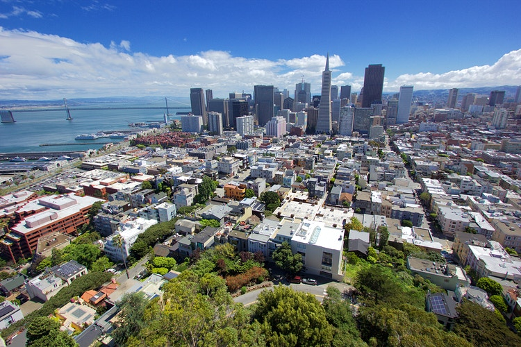 Downtown SF From Coit Tower - Northbound Photography