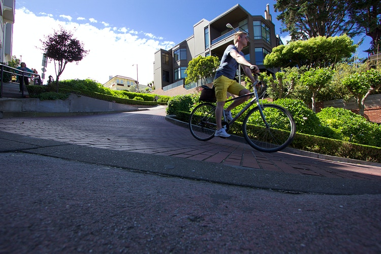 Lombard Street - Northbound Photography