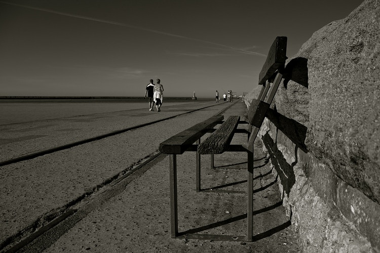 South Shields Bench - Northbound Photography