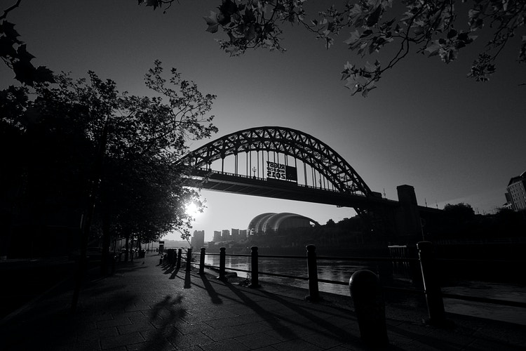B&W Tyneside Sunrise - Northbound Photography