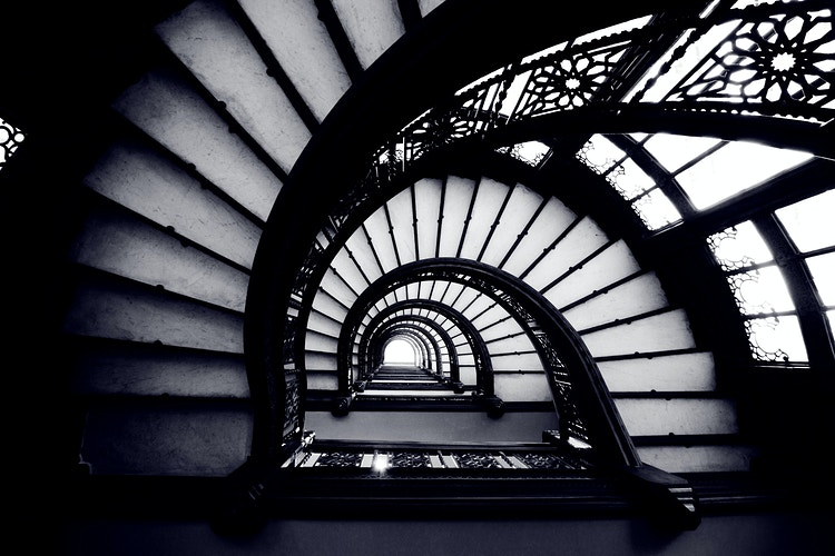 Rookery Building Staircase - Northbound Photography