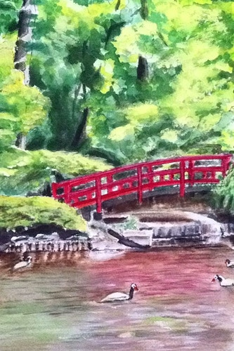 Japanese Bridge at Duke Gardens - Penney De Pas