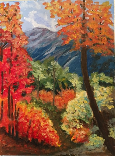 Autumn Mountain Scene - Penney De Pas