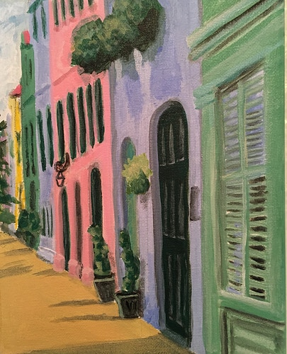 Rainbow Row, Charleston - Penney De Pas
