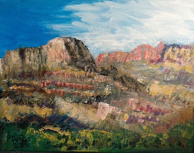 Grand Canyon-View from the River (abstract) - Penney De Pas