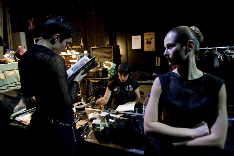 The backstage of the Chicago Musical during the premier at the Teatre Principal of Valencia in April 2011 (Valencia-Spain) - Pablo Garrigós