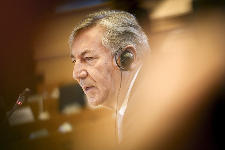 Karmenu Vella , during his hearing as Commissioner-designate for Environment, Maritime Affairs and Fisheries - Pablo Garrigós
