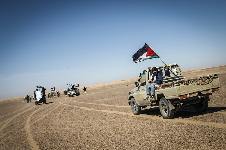 Members of the Polisario Front go to the Morocco border to protest against the occupation of the Western Sahara - Pablo Garrigós