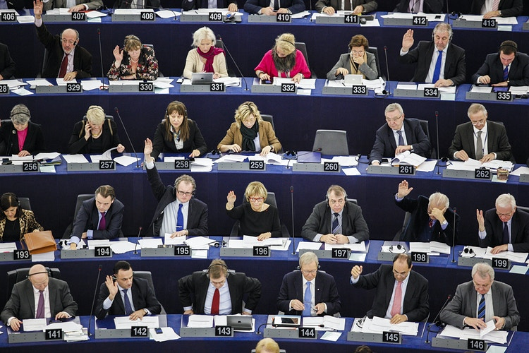 Votes during the plenary session at the European Parliament at Strasbourg - Pablo Garrigós