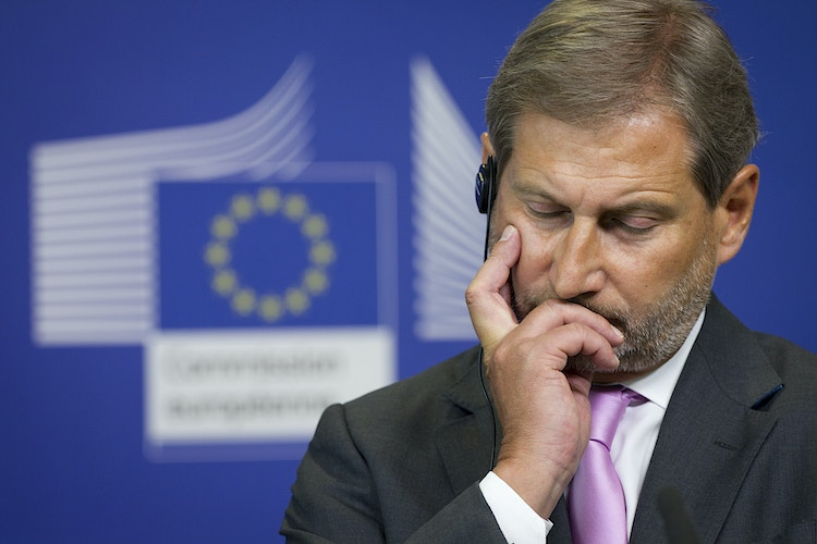 Johannes Hahn, European Commissioner of Regional Policy, after a meeting with Jose Luis Valcarcel, president of Committee of Regions of the European Union - Pablo Garrigós