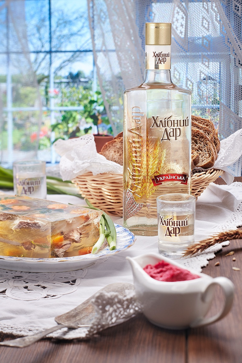 Hlebniy Dar Vodka - Sergiy Rud & Juliya Malanuk :: Table-top photography