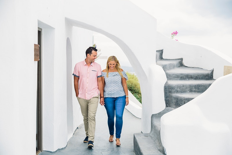 Lyndsay And Adam Santorini Greece - PMG Image