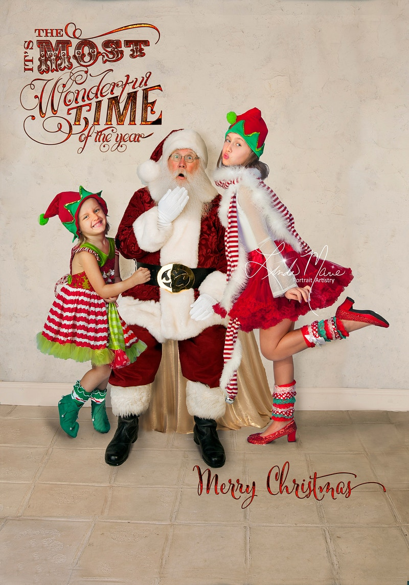 Classic With Santa - Portrait Artistry by Linda Marie | Newborn, Children & Family Photography