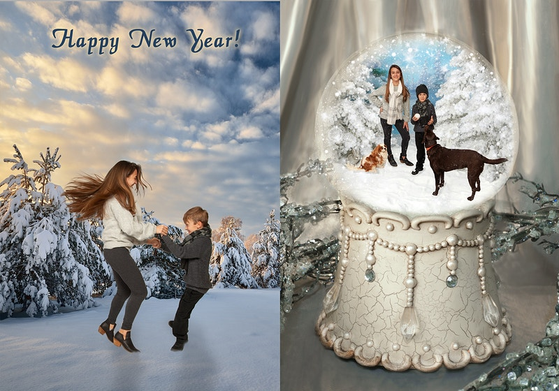 Snow Globe - Portrait Artistry by Linda Marie | Newborn, Children & Family Photography