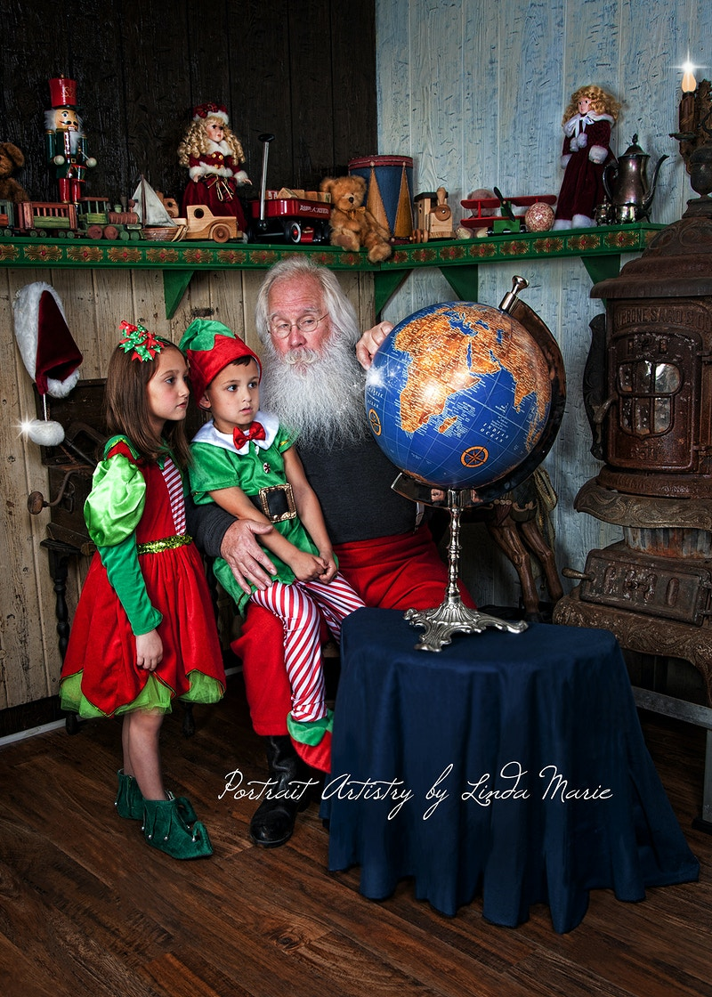 Santas Work Shop - Portrait Artistry by Linda Marie | Newborn, Children & Family Photography