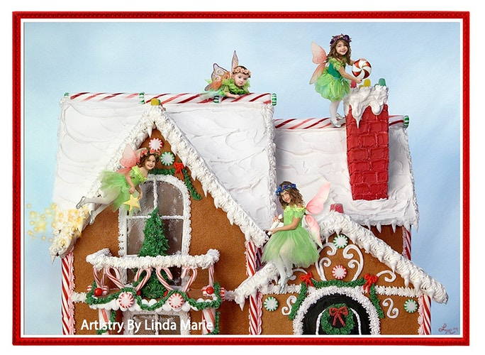 Gingerbread House Gallery Digital - Portrait Artistry by Linda Marie | Newborn, Children & Family Photography