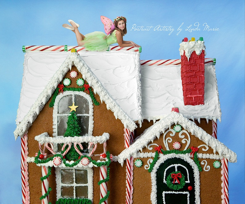 Gingerbread House - Portrait Artistry by Linda Marie | Newborn, Children & Family Photography