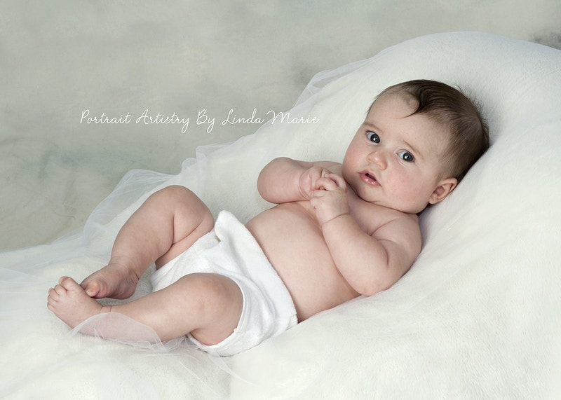 4 Months - Portrait Artistry by Linda Marie | Newborn, Children & Family Photography