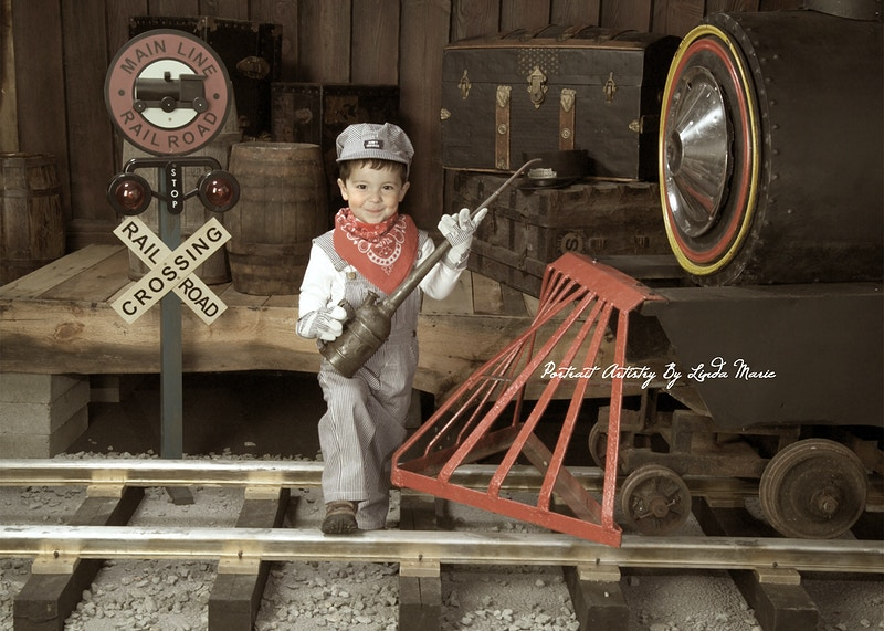 All Aboard - Portrait Artistry by Linda Marie | Newborn, Children & Family Photography