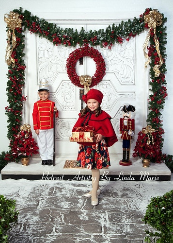 Holiday Door Wooden Soldiers Gallery Digital - Portrait Artistry by Linda Marie | Newborn, Children & Family Photography