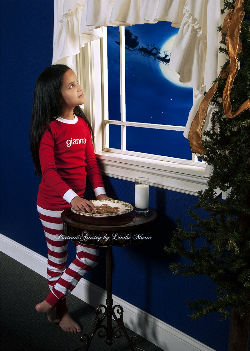The Night Before Christmas - Portrait Artistry by Linda Marie | Newborn, Children & Family Photography