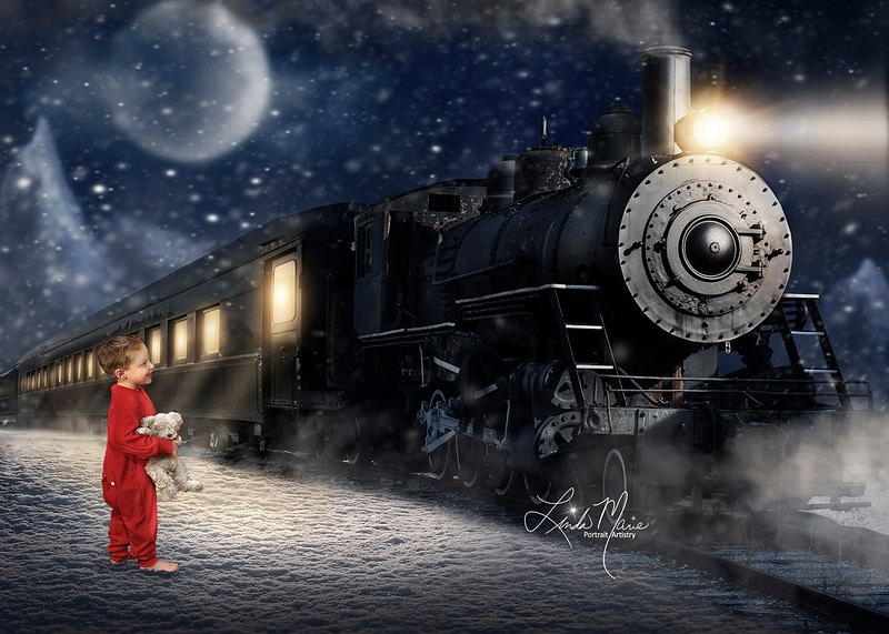 Polar Express - Portrait Artistry by Linda Marie | Newborn, Children & Family Photography