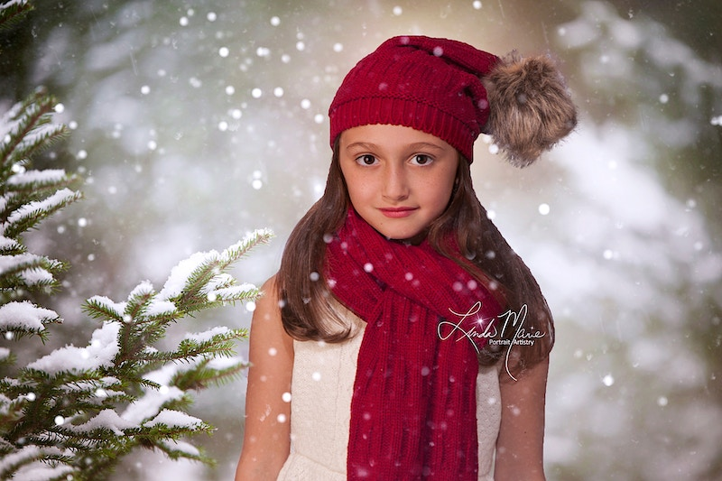 Snowy Dreams - Portrait Artistry by Linda Marie | Newborn, Children & Family Photography
