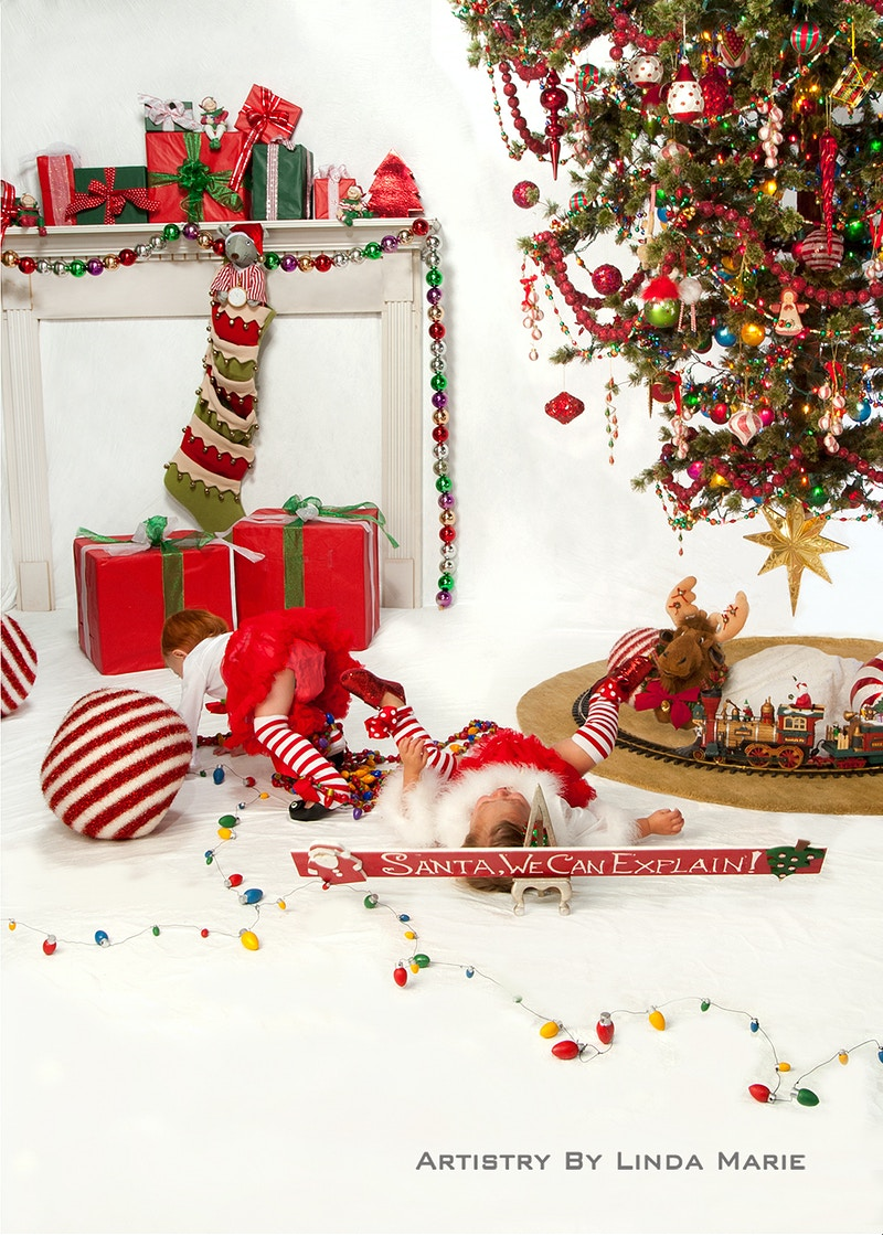 Upside Down Christmas - Portrait Artistry by Linda Marie | Newborn, Children & Family Photography