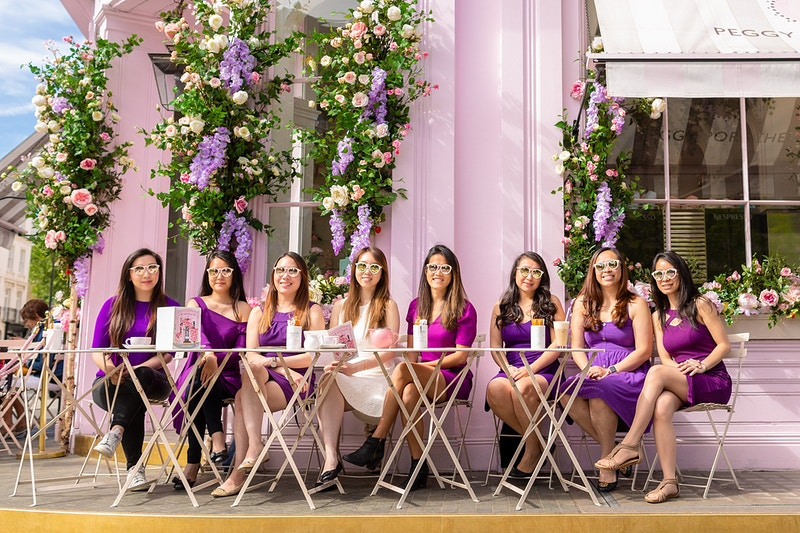 Team Jessica Bachelorette Party Peggy Porschen Belgravia London - Rajesh Taylor | Mayfair & St James's of London Corporate and Family Photographer