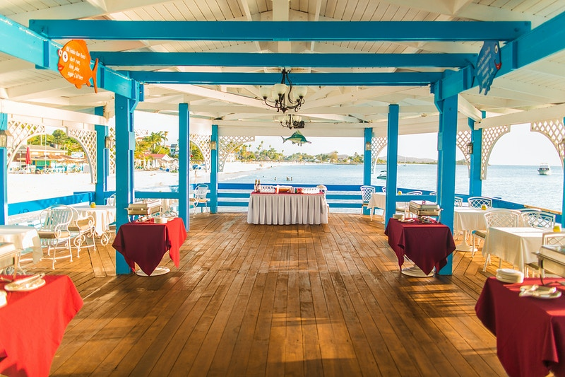 David Nicole Evening Wedding Rehearsal Wari Pier Halcyon Cove Antigua - Rajesh Taylor | Mayfair & St James's of London Corporate and Family Photographer