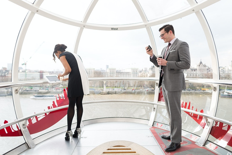 David Nicole London Eye Wedding Proposal Westminster London - Rajesh Taylor | Mayfair & St James's of London Corporate and Family Photographer
