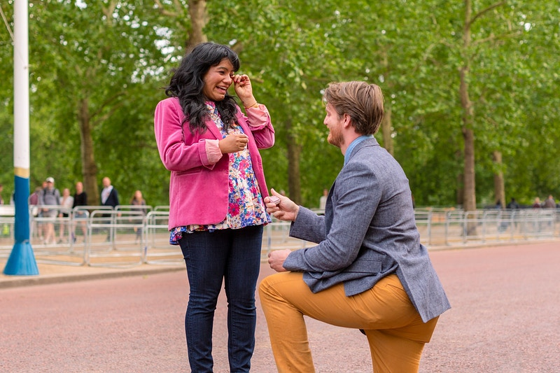 Estrella Matthew The Mall Buckingham Palace Wedding Proposal - Rajesh Taylor | Mayfair & St James's of London Corporate and Family Photographer