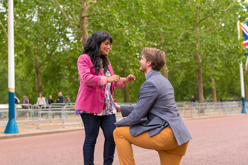 Estrella Matthew The Mall Buckingham Palace Wedding Proposal - Rajesh Taylor | Mayfair & St James's of London Family Photographer