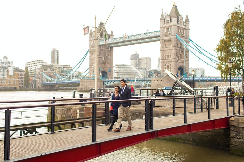 John And Winshen Tower Bridge And St Katherines Marina London Wedding Proposal - Rajesh Taylor | Mayfair & St James's of London Family Photographer
