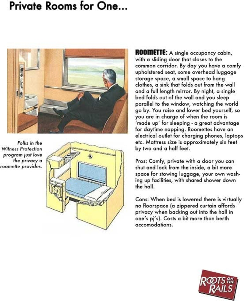 About The Trips Accommodations On Board - Roots on the Rails