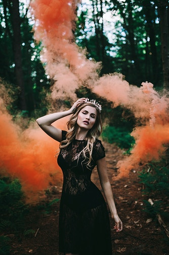Smoke bomb portrait - Creative Portrait Photographer :: Portland, Maine - Savannah Daras