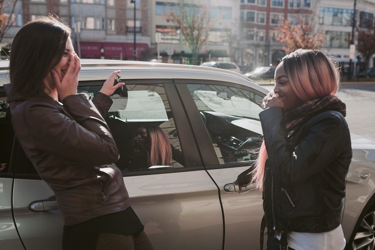 Friends driving around Boston - Creative Portrait Photographer :: Portland, Maine - Savannah Daras