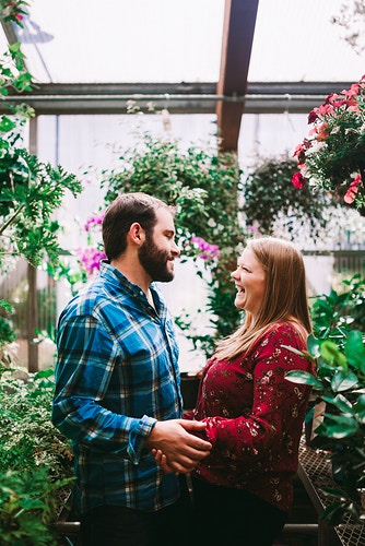 Greenhouse engagement shoot - Creative Portrait Photographer :: Portland, Maine - Savannah Daras