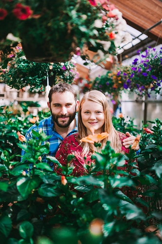 Flower garden engagement session - Creative Portrait Photographer :: Portland, Maine - Savannah Daras