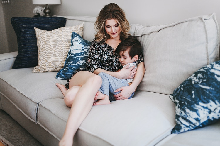 Mother and son at home - Creative Portrait Photographer :: Portland, Maine - Savannah Daras