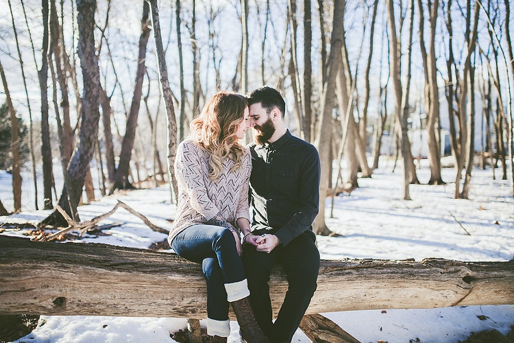 Winter woodland engagement - Creative Portrait Photographer :: Portland, Maine - Savannah Daras