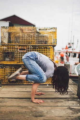 Crane Pose - Yoga - Creative Portrait Photographer :: Portland, Maine - Savannah Daras