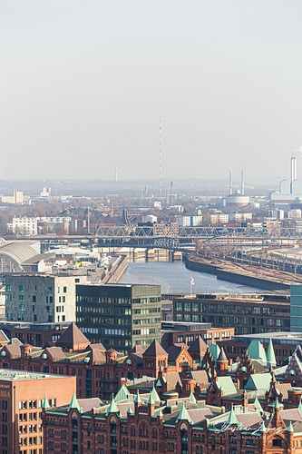 Hafencity from Church of St. Nicholas — in Hamburg, Germany. - Sebastian Lopez Photography