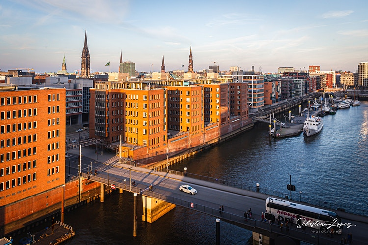 Speicherstadt from Elbphilharmonie See Translation — in Hamburg, Germany. - Sebastian Lopez Photography