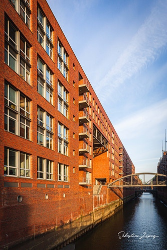 Speicherstadt at sunset — in Hamburg, Germany. - Sebastian Lopez Photography