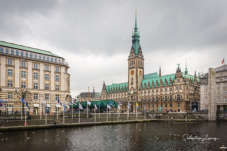 Hamburg Townhall Square — in Hamburg, Germany. - Sebastian Lopez Photography