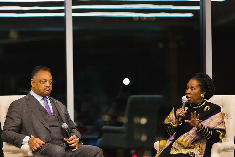 Rev. Jesse Jackson & Sheila Jackson Lee - Sherman McCain Photography | Houston Portrait, Lifestyle & Advertising Photographer