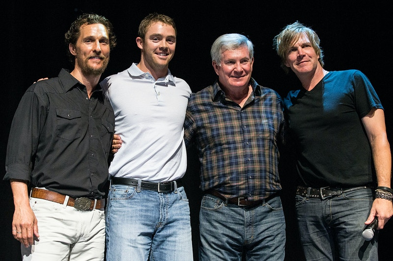 Matthew McConaughey, Colt McCoy, Mack Brown and Jack Ingram - Suzanne Cordeiro Photography