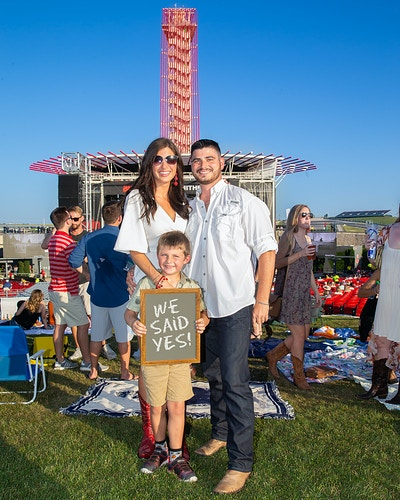 Wedding Proposal during Kenny Chesney Concert - Suzanne Cordeiro Photography